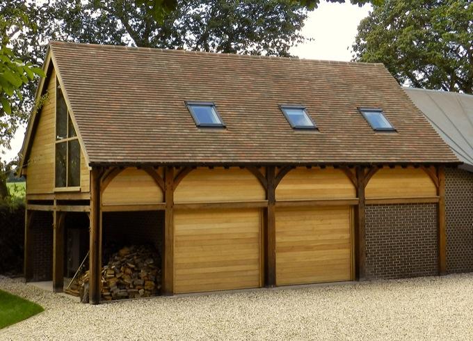 Oak Garages Berkshire The Classic Barn Company